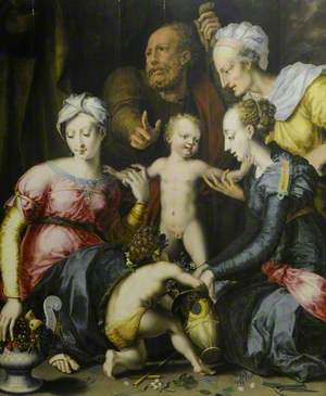 The Holy Family with Saints Elizabeth, Catherine and John the Baptist