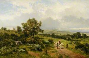 Wooded Landscape with Figures and Sheep