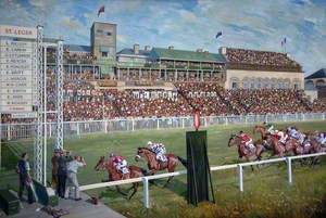 The Finish of the 1959 St Leger Stakes