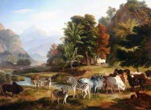 Landscape with Animals (An African Scene)