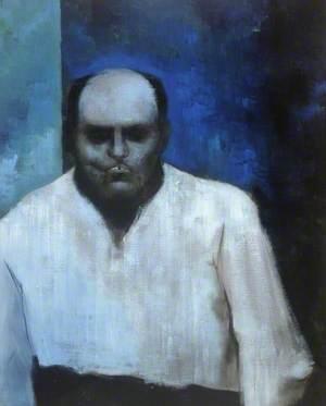 Man's Head in Blue