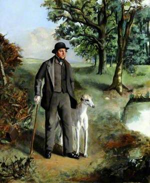 Portrait of a Gentleman and a Greyhound