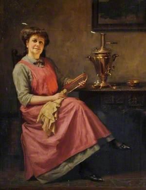 Woman with a Samovar