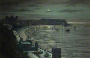 Moonlight Coastal Scene