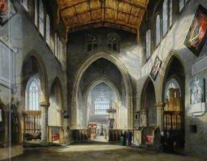 Interior of Rotherham Parish Church, South Yorkshire