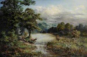 Landscape with a Stag