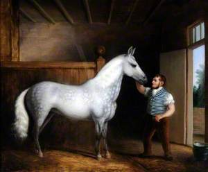 'Cinderella', a Favourite Cob of Mrs Henry Walker's and Her Coachman William Sales