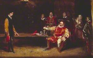 Falstaff Personating the King