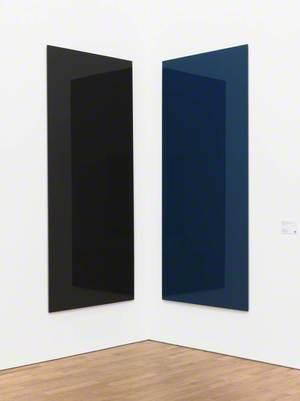 Corner Mirror, brown-blue (737-1, 737-2) (Eckspiegel, braun-blau (737-1, 737-2))