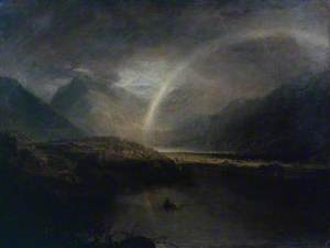 Buttermere Lake, with Part of Cromackwater, Cumberland, a Shower