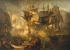 The Battle of Trafalgar, as Seen from the Mizen Starboard Shrouds of the Victory