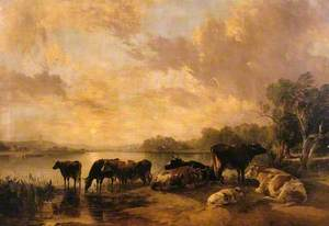 A River Scene (cattle by Thomas Sidney Cooper)