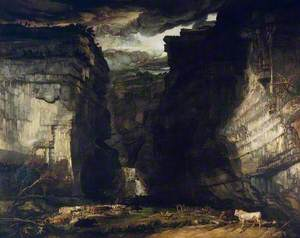 Gordale Scar (A View of Gordale, in the Manor of East Malham in Craven, Yorkshire, the Property of Lord Ribblesdale)