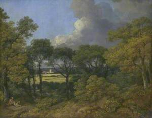 Wooded Landscape with a Peasant Resting