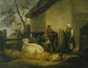 Cowherd and Milkmaid