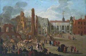 The Inner Temple after the Fire of 4 January 1737