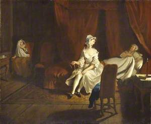 VII: Pamela in the Bedroom with Mrs Jewkes and Mr B.