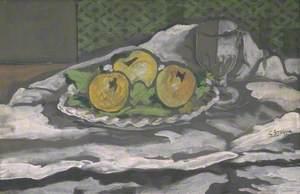 Glass and Plate of Apples (Verre et plat de pommes)
