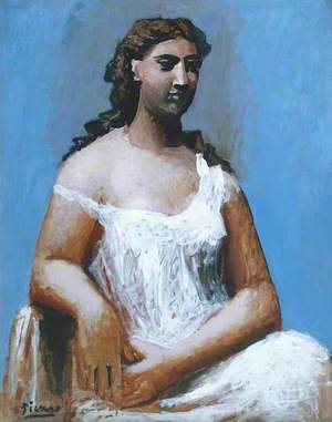 Seated Woman in a Chemise (Femme en chemise assise)