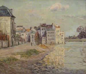 The Embankment of Lagny under Flood Water (Le Quai de Lagny inondé)