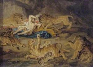 Sketch for 'Daniel in the Lion's Den'