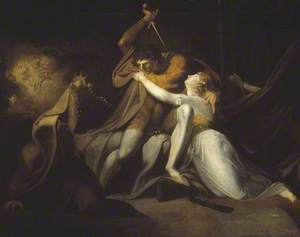Percival Delivering Belisane from the Enchantment of Urma