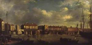 Old London Bridge (after Samuel Scott, N00313)