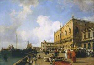 Venice: Ducal Palace with a Religious Procession