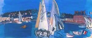 Deauville, Drying the Sails (Deauville, le séchage des voiles)