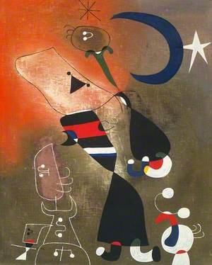Women and Bird in the Moonlight (Femmes, oiseau au clair de lune)