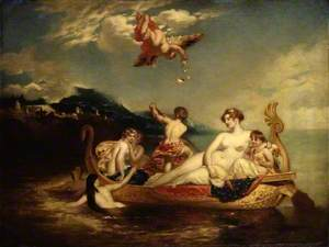 The Coral Finder: Venus and her Youthful Satellites, replica