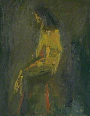 Yellow Seated Figure