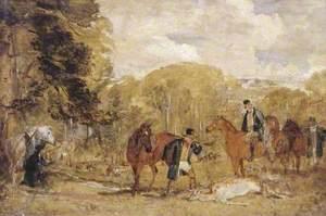 Sketch for 'Buck-Shooting in Windsor Great Park'