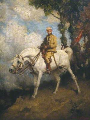 Field-Marshal Earl Roberts on his Charger 'Vonolel'