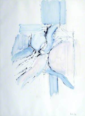Drawing 1964 (Divided Blue)