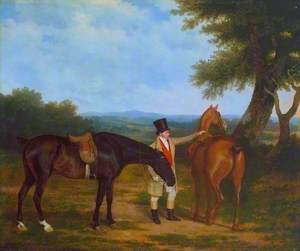 Two Hunters with a Groom