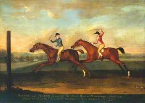 The Match between Aaron and Driver at Maidenhead, Aug. 1754: Driver Winning the Third Heat