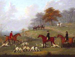 The Earl of Darlington Fox-Hunting with the Raby Pack: Drawing Cover