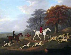 The Earl of Darlington Fox-Hunting with the Raby Pack: Going to Cover