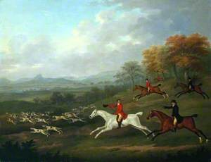 The Earl of Darlington Fox-Hunting with the Raby Pack: Full Cry