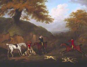 The Earl of Darlington Fox-Hunting with the Raby Pack: The Death
