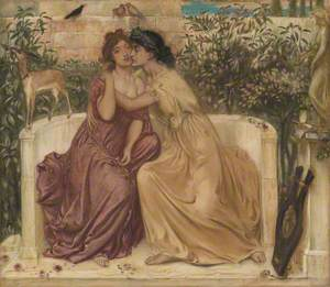Sappho and Erinna in a Garden at Mytilene