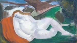 Sleeping Woman in a Landscape