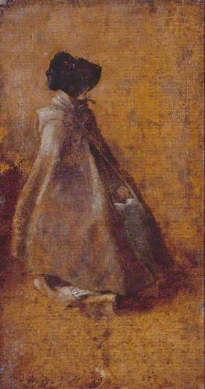 Study of a Girl in a Cloak and Bonnet