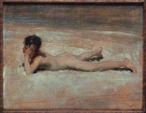 A Nude Boy on a Beach