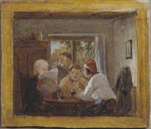 Study for 'A Letter from the Colonies'