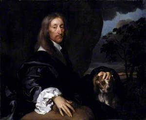 Portrait of a Gentleman with a Dog, Probably Sir Thomas Tipping