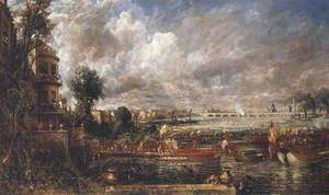The Opening of Waterloo Bridge ('Whitehall Stairs, June 18th, 1817')