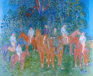 The Kessler Family on Horseback