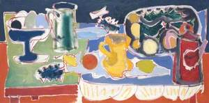 The Long Table with Fruit: 1949